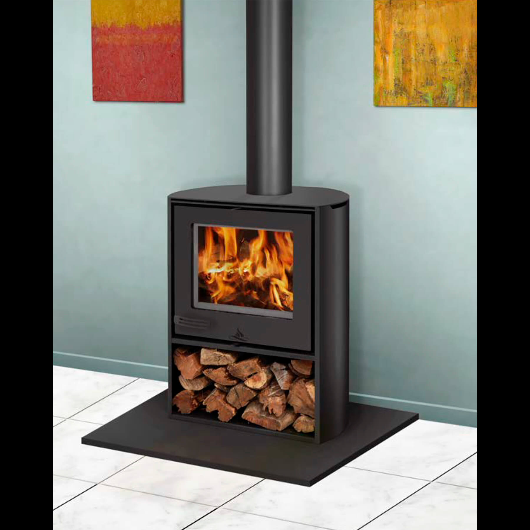 Combustion-Fireplaces-Freestanding-10kw-Curve-Convection-Unit