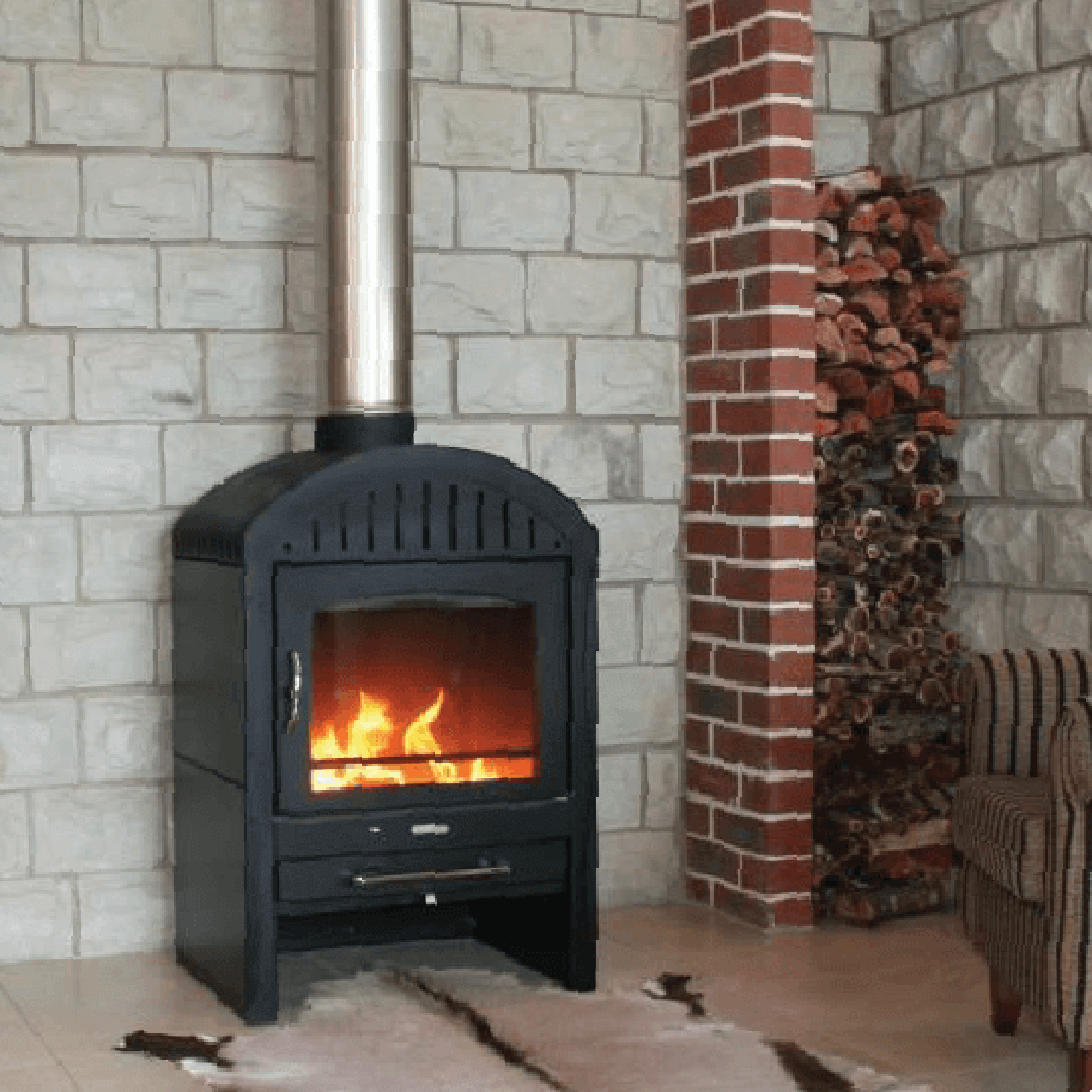 Combustion-Fireplaces-Freestanding-Da-Vinci