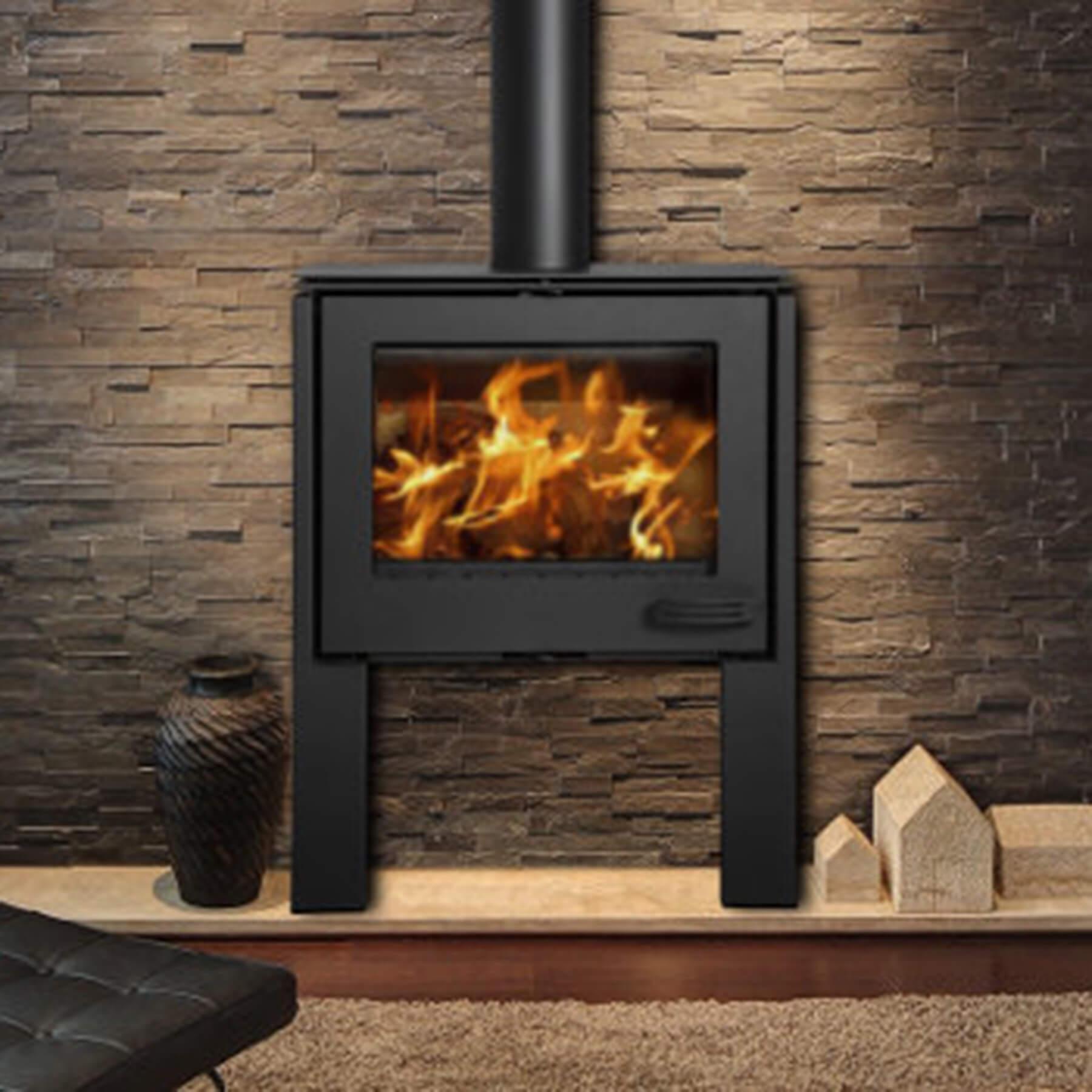Combustion-Fireplaces-Freestanding-13kw-Convection-Unit-Black-Legs-Environment