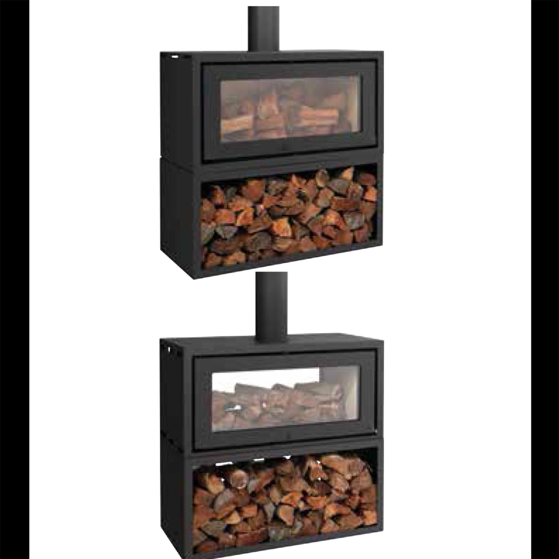 Combustion-Fireplaces-Freetanding-18kw-Single-and-Double-Sided-Convection-Unit