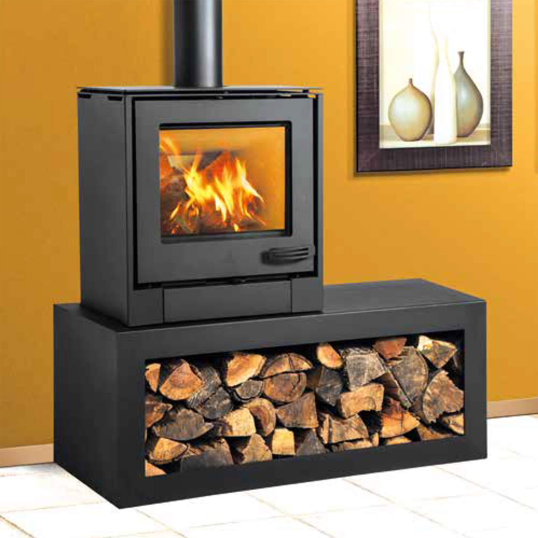 Combustion-Fireplaces-Freetanding-8kw-Convection-Unit-Wood-Storage-Table-Environment