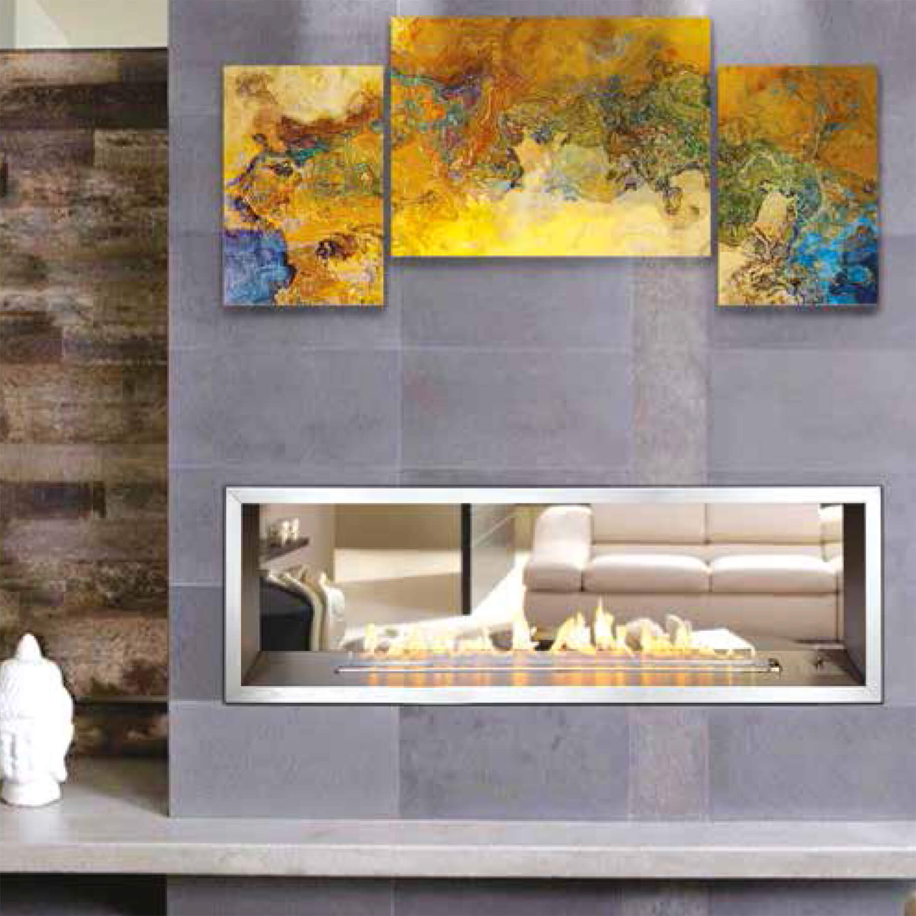 Gas-Fireplaces-1400-Slimline-Double-Sided-Flue-Less-Optional-Stainless-Steel-Trim-Environment