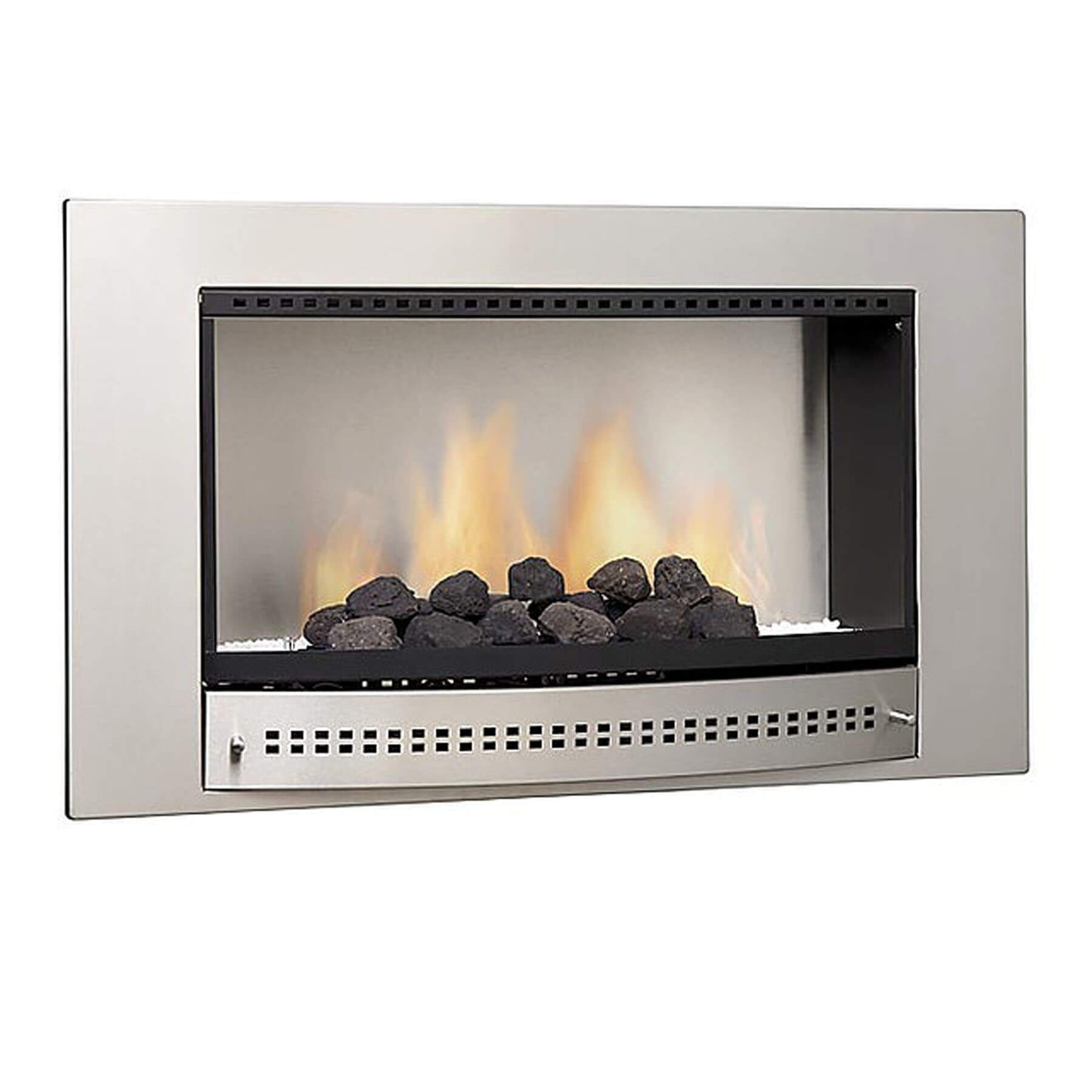 Gas-Fireplaces-Classic-Stainless-Steel-Plain-Back