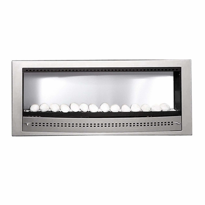 Gas-Fireplaces-Contemporary-Stainless-Steel-Plain-Back