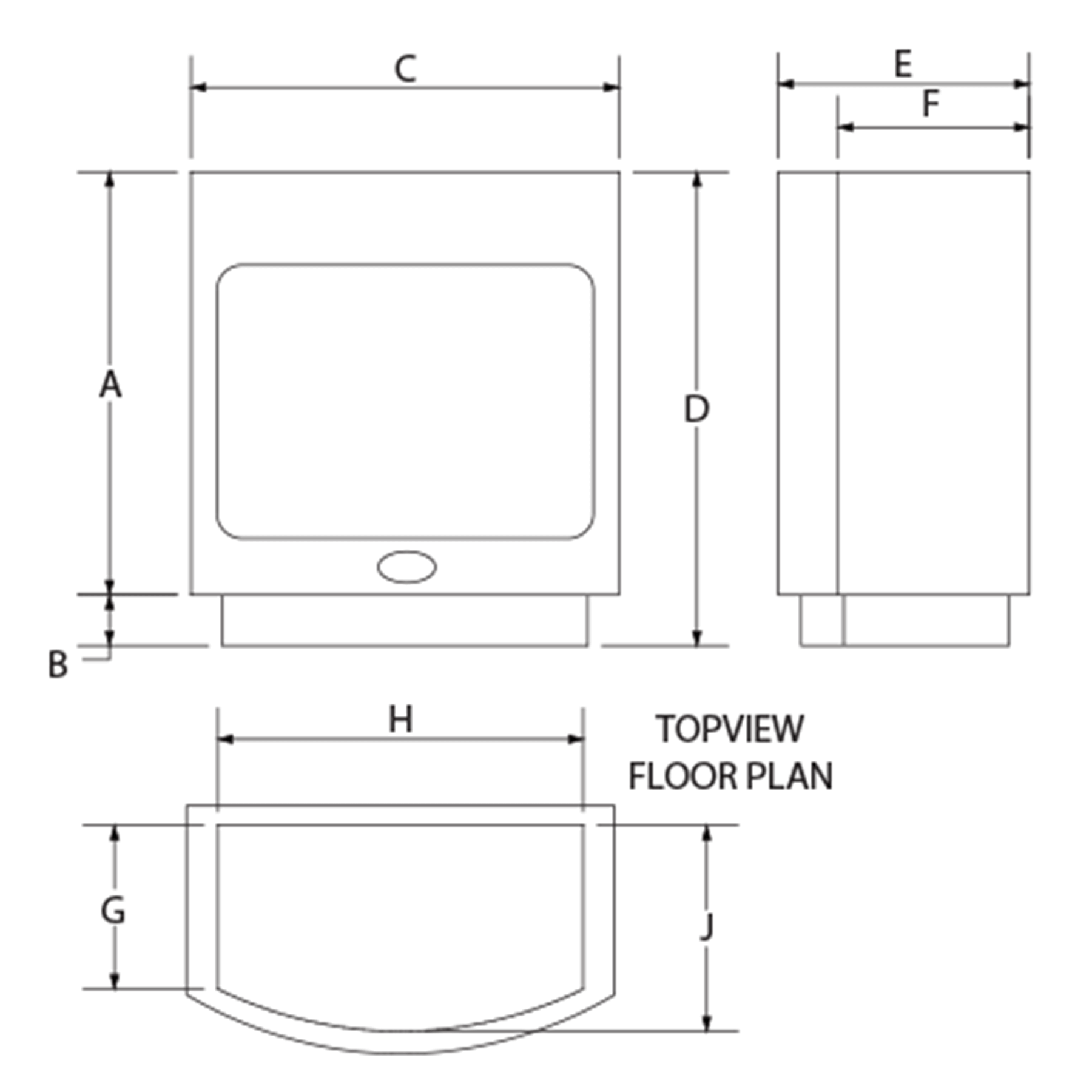 Maluti-Gas-Firebox-Freestanding-Drawing