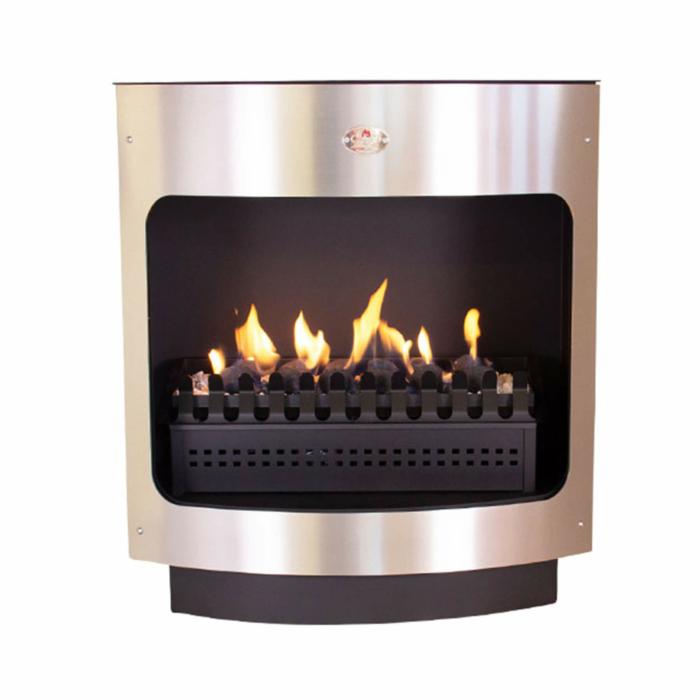 Maluti-Gas-Firebox-Freestanding-Model-760-Coal-Grate-Stainless-Steel