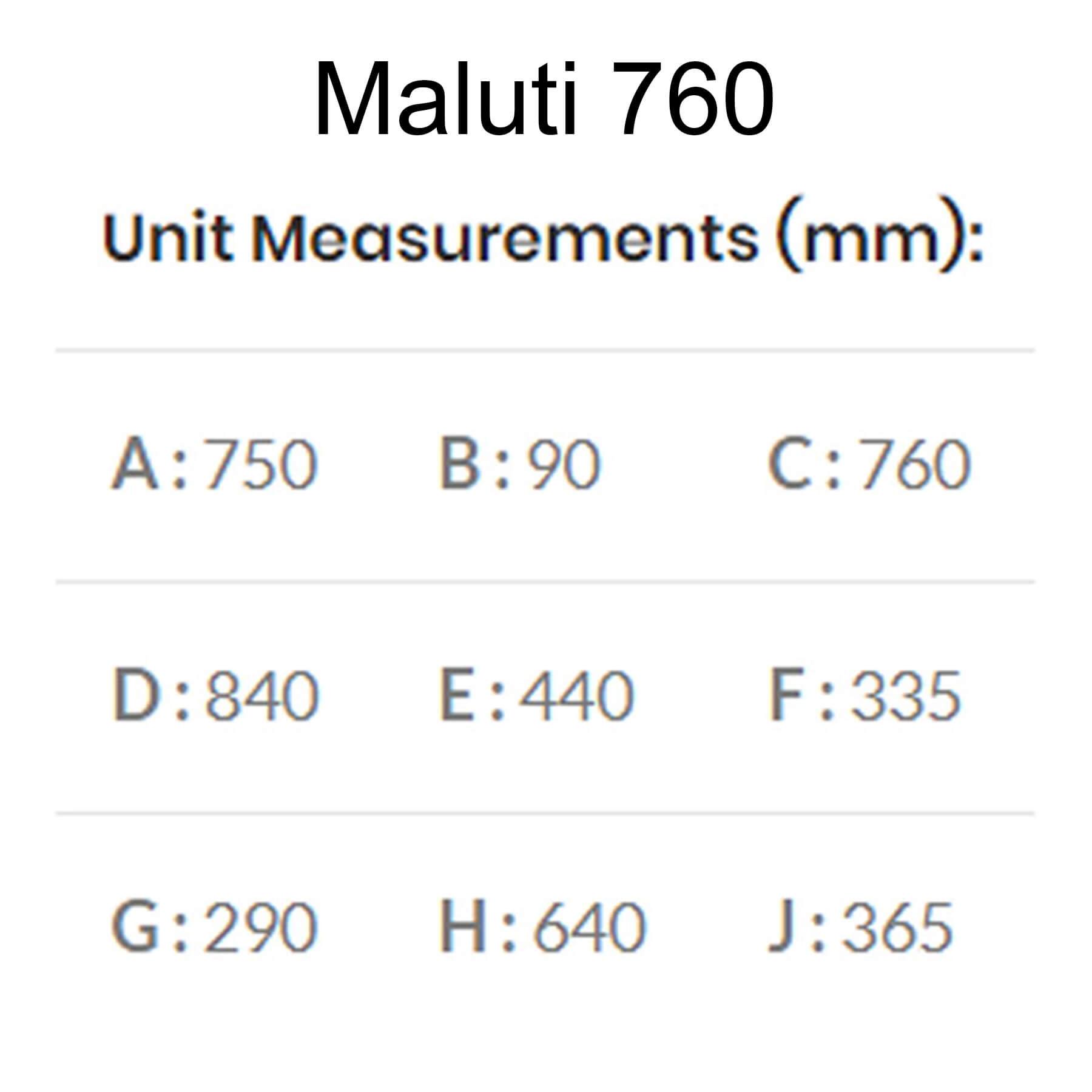 Maluti-Gas-Firebox-Freestanding-Model-760-Dimensions