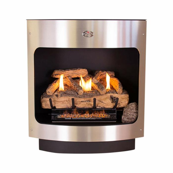 Maluti-Gas-Firebox-Freestanding-Model-760-Log-Set-Stainless-Steel