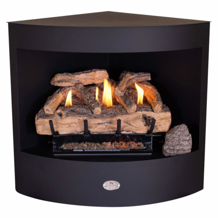 Panoramic-Gas-Firebox-Freestanding-Model-600-Split-Oak-Logset-Mild Steel