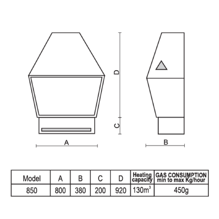 Technical-Specifications-Baron-Flue-Less-Fireplaces