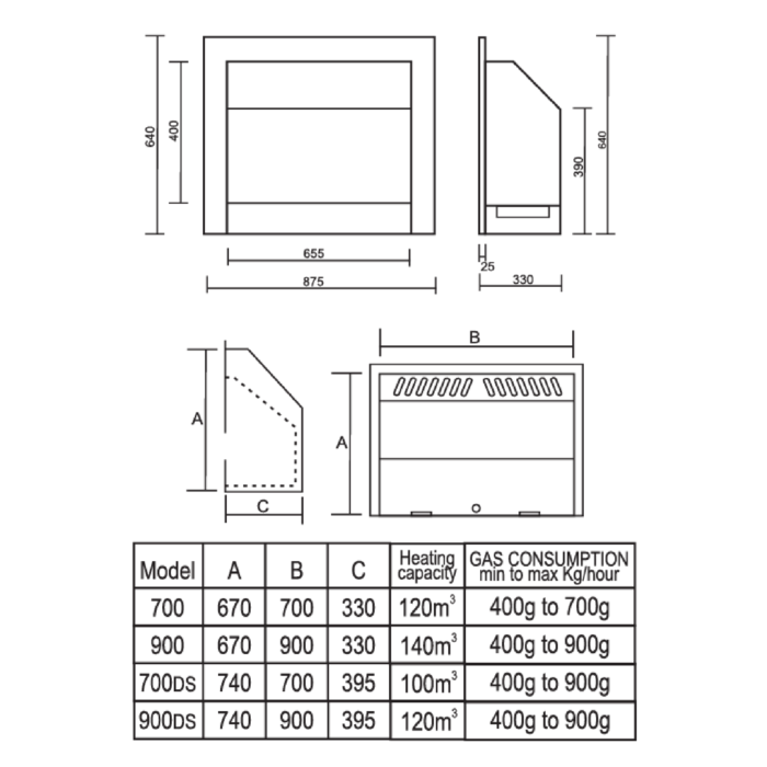 Technical-Specifications-Built-In-Flue-Less-Fireplaces