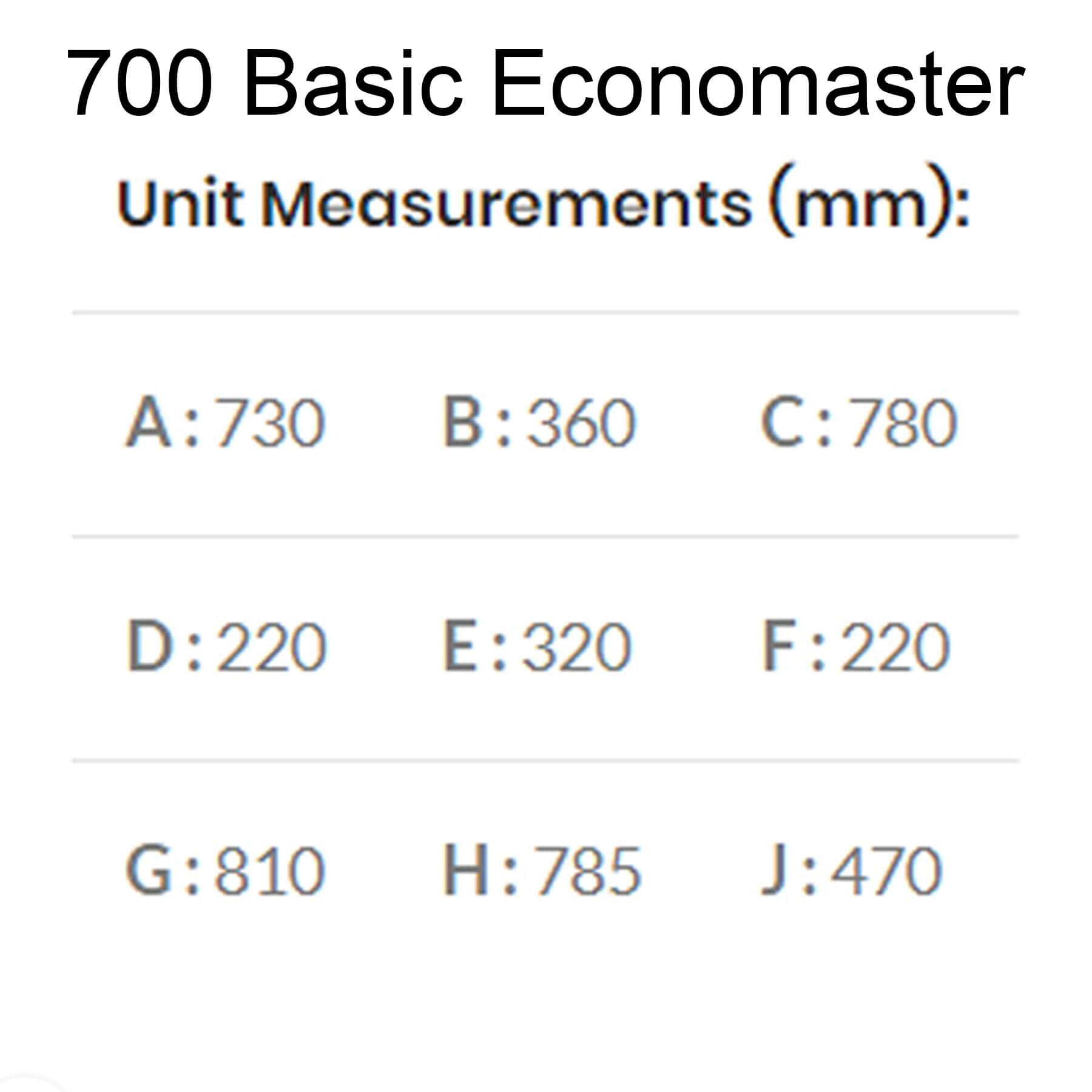 Technical-Specifications-Dimensions-700-Basic-Economaster-Braai