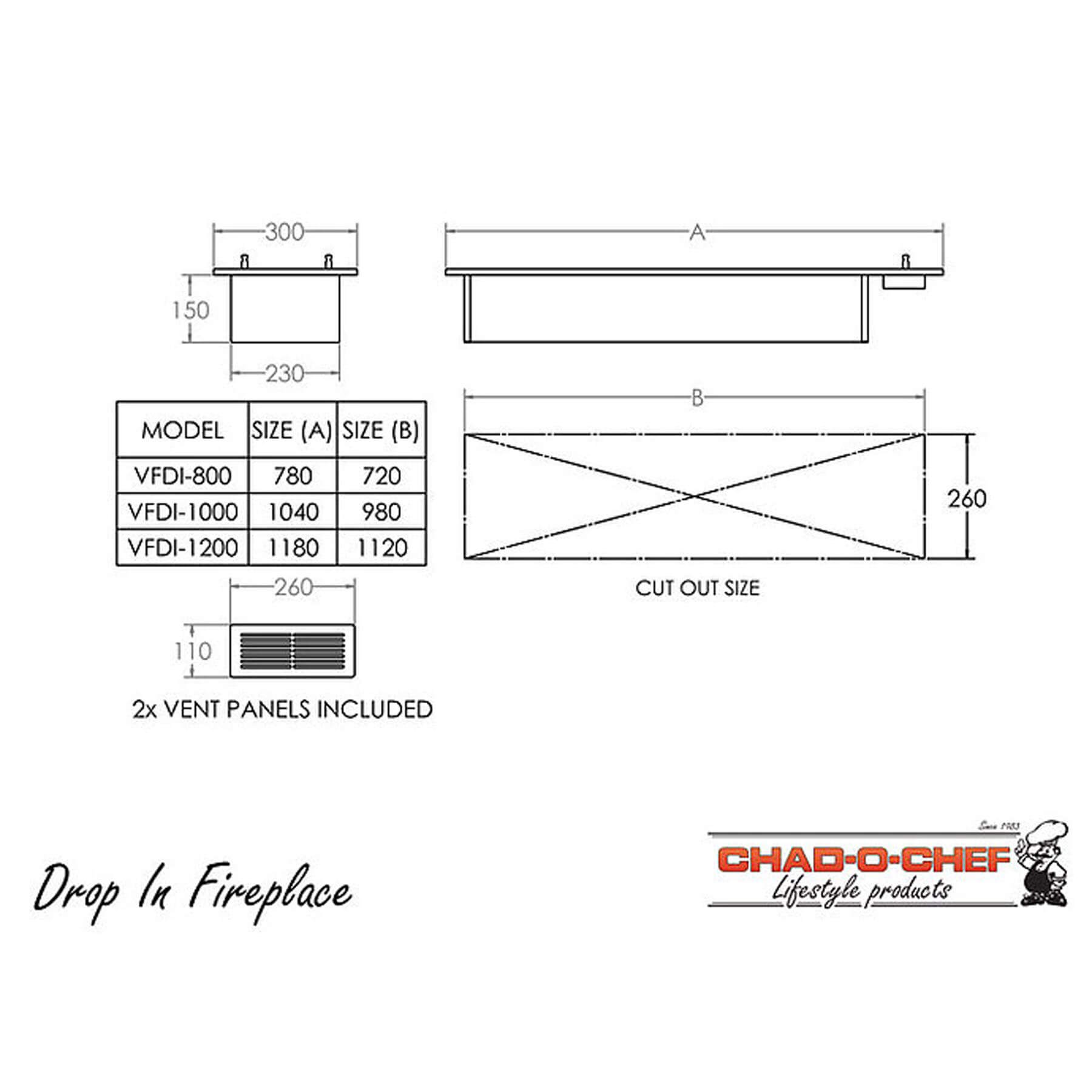 Technical-Specifications-Drop-In-Fireplaces