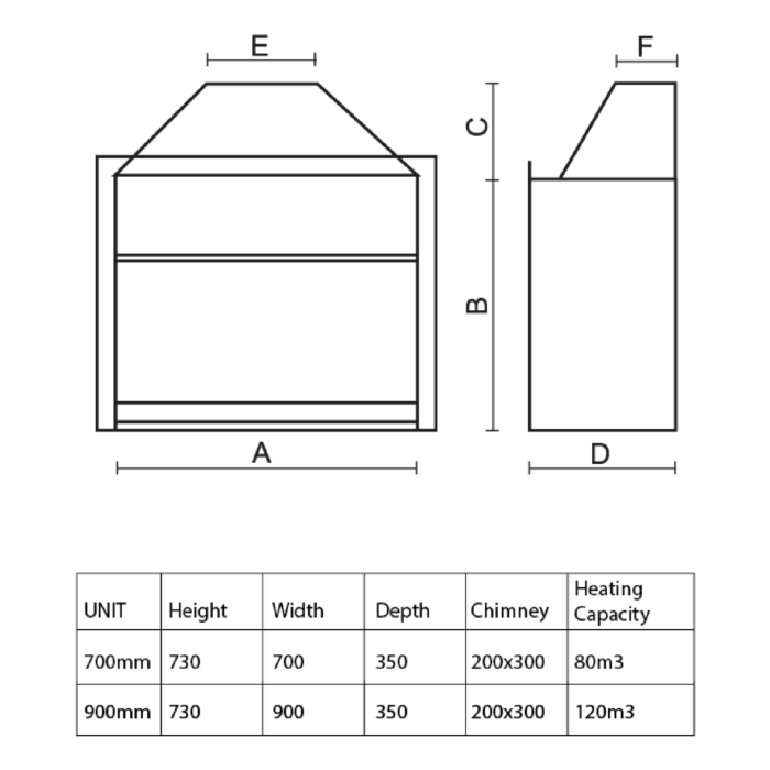 Technical-Specifications-Eagle-Built-In-Slimline-Fireplaces