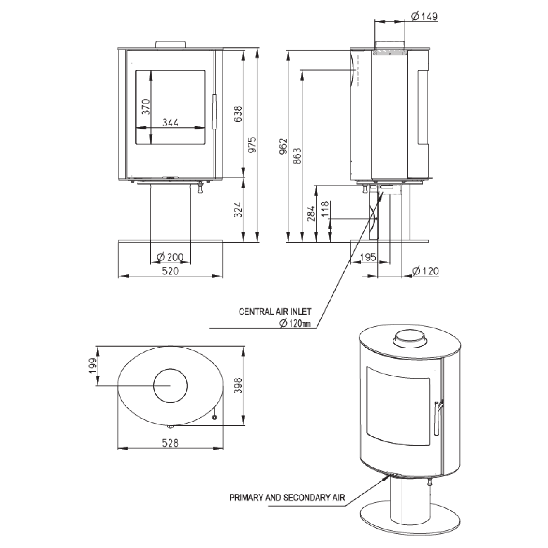Technical-Specifications-Evora-Fireplace