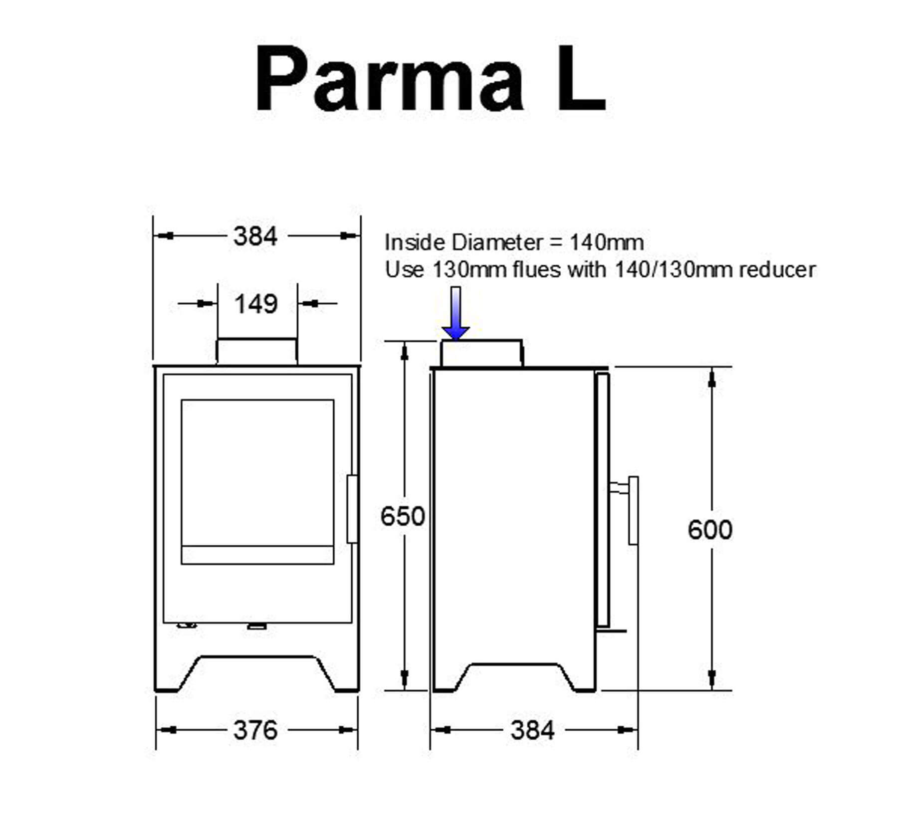 Technical-Specifications-Parma-L-Fireplace