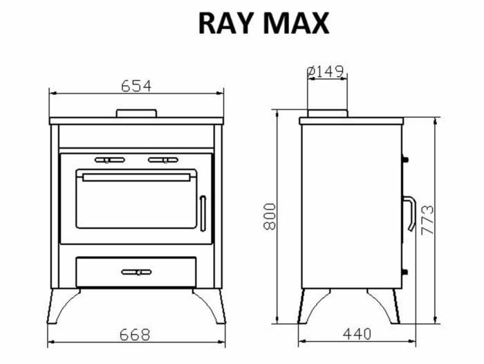 Technical-Specifications-Ray-Max-Fireplace