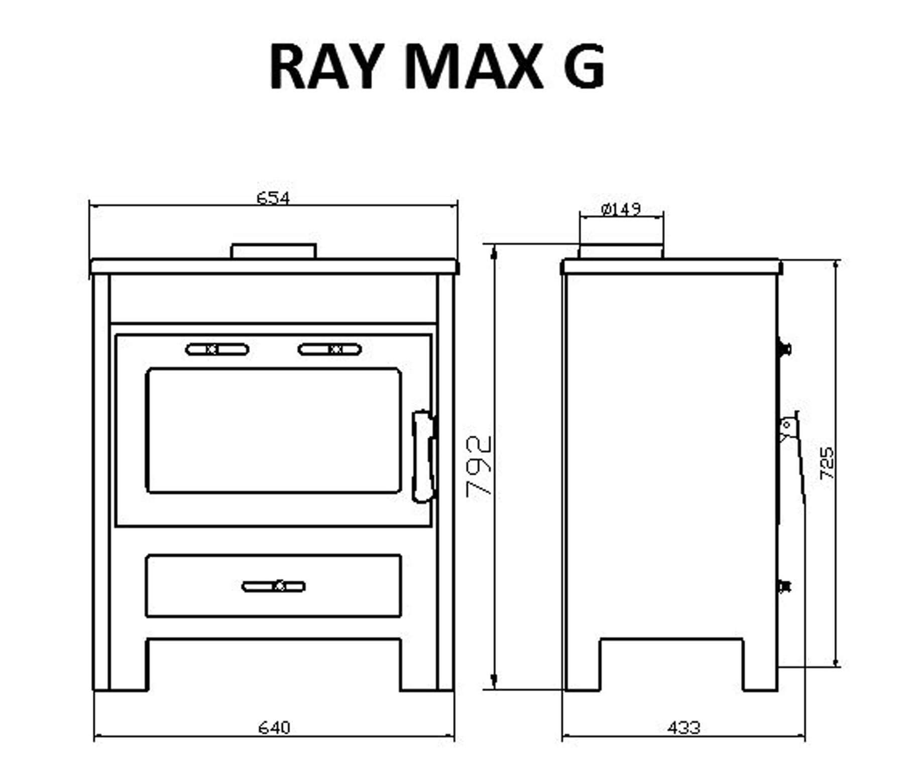 Technical-Specifications-Ray-Max-G-Fireplace