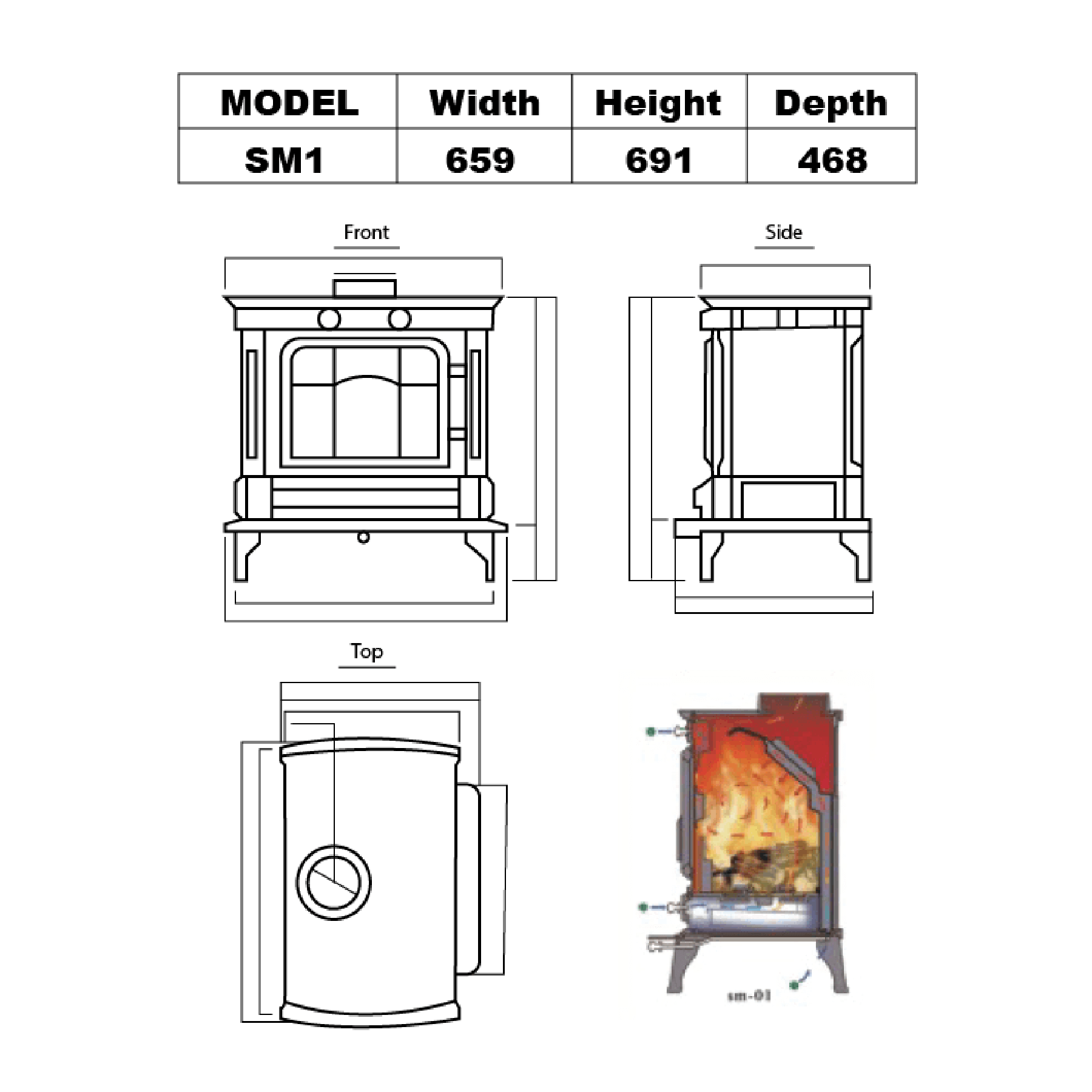 Technical-Specifications-SM1-Fireplaces