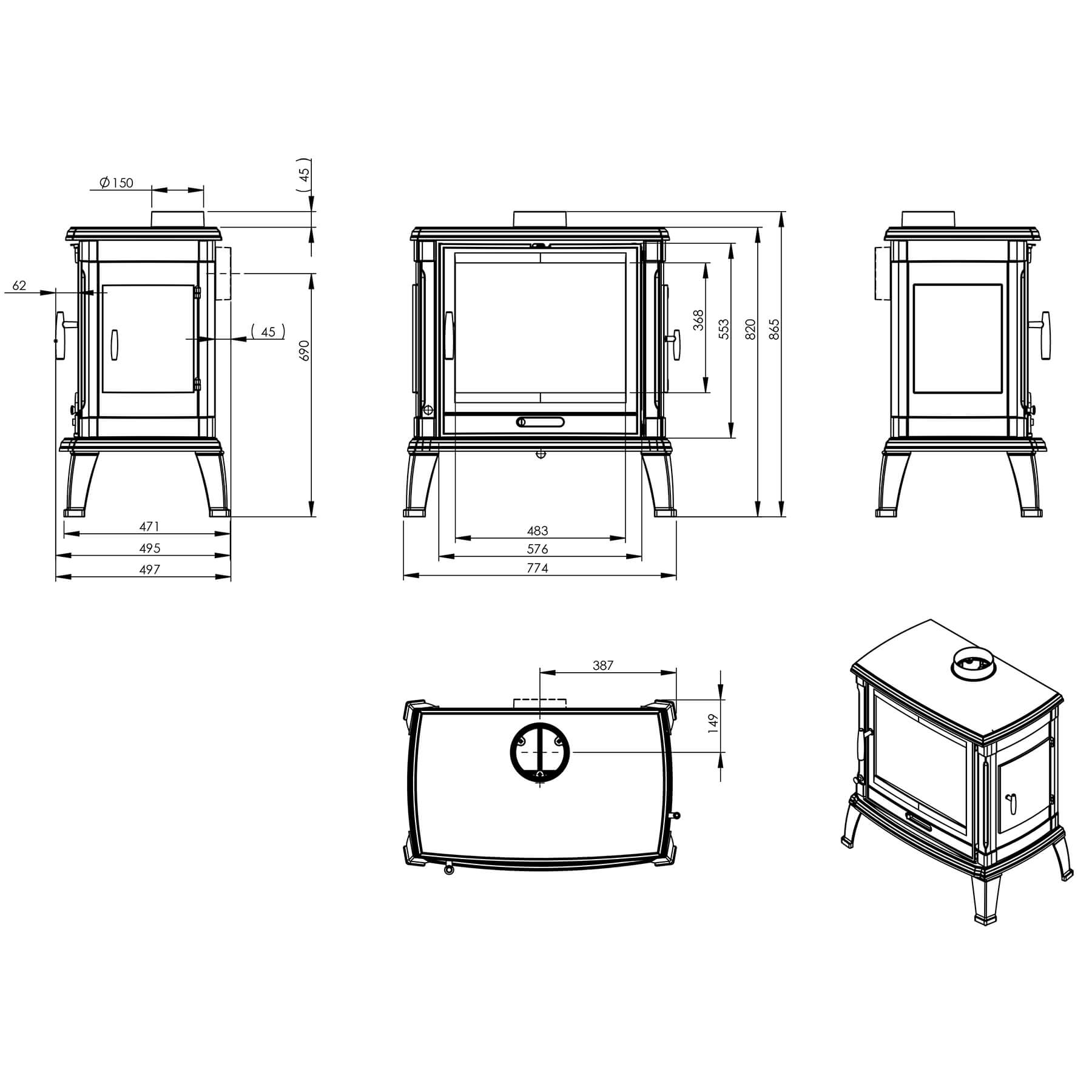 Technical-Specifications-Toria-Fireplaces