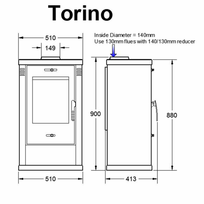 Technical-Specifications-Torino-Fireplace
