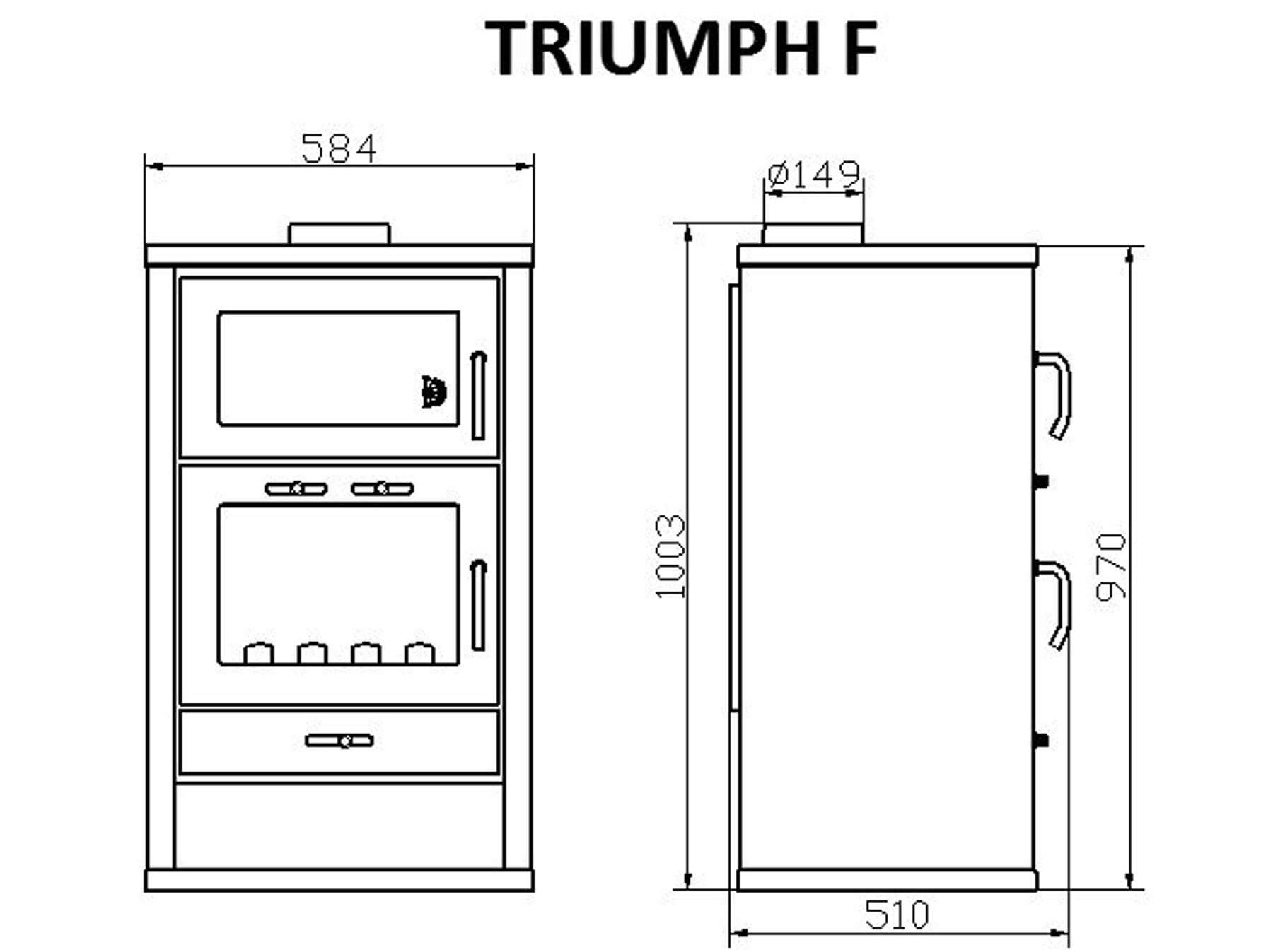 Technical-Specifications-Triumph-F-Fireplace