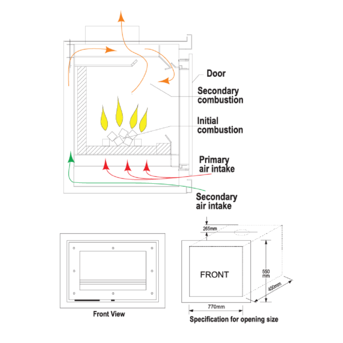 Technical-Specifications-Van-Gogh-Single-Sided-Built-in-Fireplaces